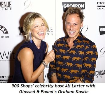 Blog 9 - 900 Shops celebrity Host Ali Larter with Glossed & Found's Graham Kostic