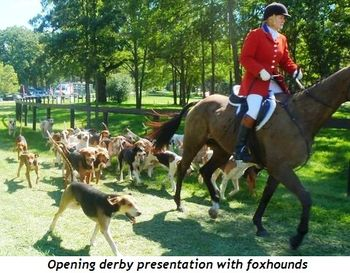 Blog 1 - Opening derby presentation with foxhounds