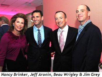 Blog 5 - Nancy Brinker, Jeff Aronin, Beau Wrigley, Jim Grey