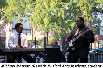 Blog 4 - Michael Manson (R) with Musical Art Institute student
