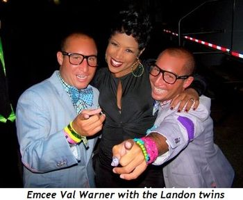 Blog 3 - Emcee Val Warner with the Landon Twins