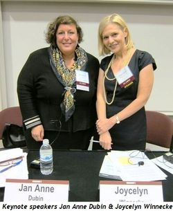 Blog 1 - Keynote speakers Jan Anne Dubin and Tribune's Joycelyn Winnecke