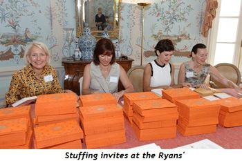 Blog 6 - Stuffing invites at the Ryans'