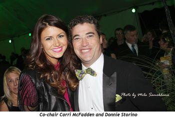 Co-chair Corri McFadden and friend