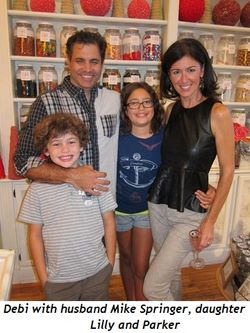 Blog 4 - Debi with husband Mike Springer, daughter Lilly and Parker