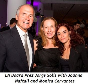 Blog 6 - Jorge Solis (LN board president), Joanna Naftali and Monica Cervantes