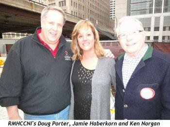 RMHCCNI's Doug Porter, Jamie Haberkorn and Ken Norgan (owner-operator)