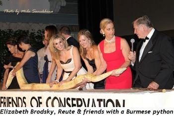Blog 7 - Elizabeth Brodsky, Reute and friends with Burmese python