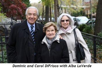 Blog 7 - Dominic, Alba LoVerde and Carol DiFrisco
