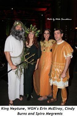 Blog 7 - King Neptune, WGN's Erin McElroy, Cindy Burns, Spiro Megremis