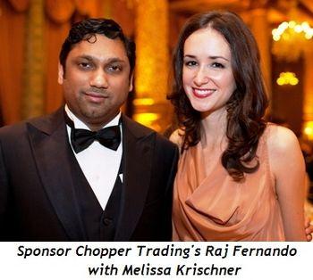 Blog 4 - Sponsor Chopper Trading's Raj Fernando with Melissa Krischner