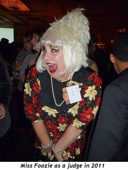 Miss Foozie as a judge in 2011