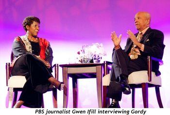 Blog 5 - PBS journalist Gwen Ifill interviewing Gordy