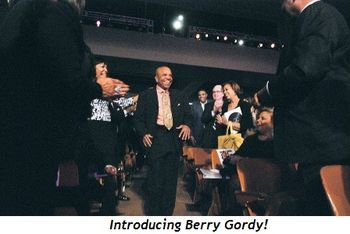Blog 16 - Berry Gordy being introduced