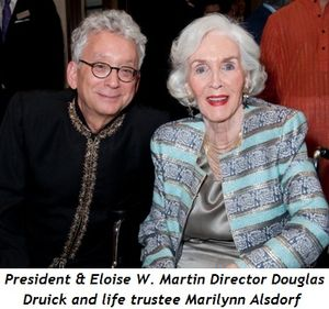 Blog 4 - President and Eloise W. Martin Director Douglas Druick and life trustee Marilynn Alsdorf