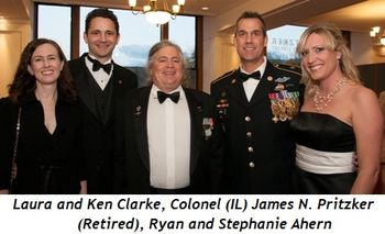 Blog 4 - Laura and Ken Clarke, Colonel (IL) James N. Pritzker (Retired), Ryan and Stephanie Ahern