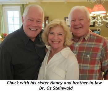 Blog 1 - Chuck with his sister Nancy and brother-in-law Dr. Osmar Steinwald