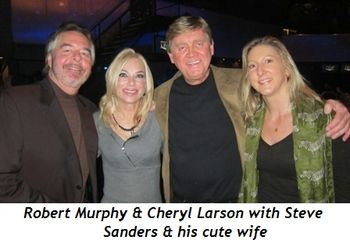 Blog 5 - Robert Murphy, Cheryl Larson, Steve Sanders and cute wife