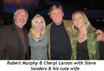 Blog 5 - Robert Murphy, Cheryl Larson, Steve Sanders and cute wife
