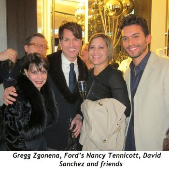 2 - Gregg Zgonena, Ford's Nancy Tennicott, David Sanchez and friends