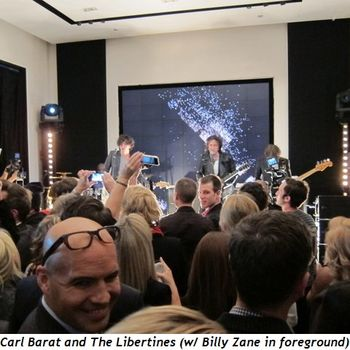 11 - Carl Barat and the Libertines with Billy Zane in foreground