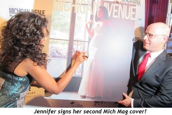 9 - Jennifer signs her second cover for Mich Mag!