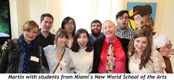 3 - Martin with students from Miami's New World School of the Arts