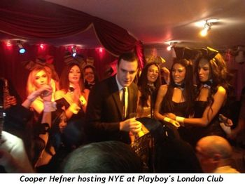 4 - Cooper Hefner hosting NYE at Playboy's London Club