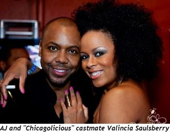 2 - AJ and fellow Chicagolicious cast-mate Valincia Saulsberry