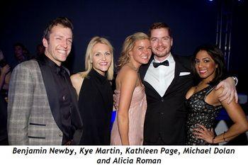 1 - Benjamin Newby, Kye Martin, Kathleen Page, Michael Dolan and Alicia Roman