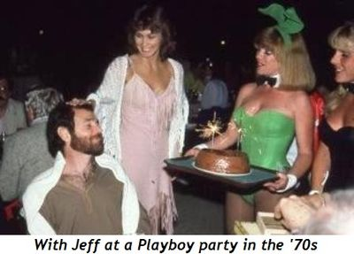 With Jeff at Playboy party in the 70's