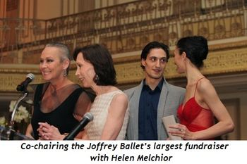 Co-chairing the Joffrey Ballet's largest fundraiser with Helen Melchior