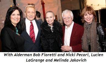 10 - With Alderman Bob Fioretti and Nicki Pecori, Lucien LaGrange and Melinda Jakovich