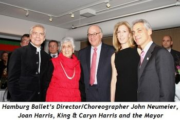 1 - Hamburg Ballet's Director-Choreographer John Neumeier, Joan Harris, King and Caryn Harris and the Mayor