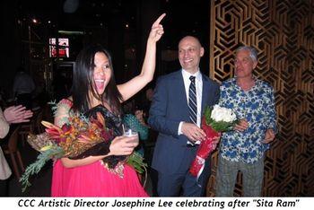 1 - CCC Artistic Director Josephine Lee celebrating after Sita Ram