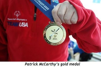 1 - Patrick McCarthy's gold medal