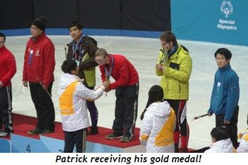 4 - Receiving his gold medal