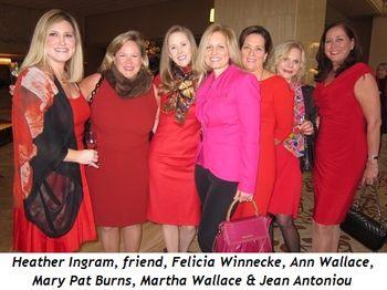 5 - Heather Ingram, friend, Felicia Winnecke, Ann Wallace, Mary Pat Burns, Martha Wallace & Jean Antoniou