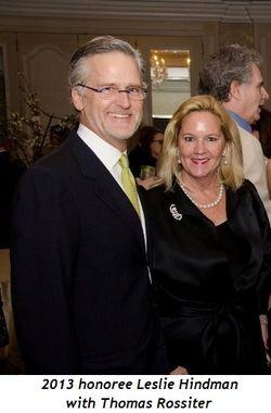 1 - 2013 honorees John W. McCarter and Leslie Hindman