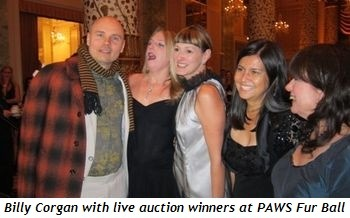Billy Corgan with live auction winners at PAWS Fur Balll