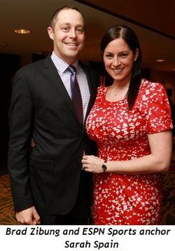 Brad Zibung, ESPN Sports Anchor Sarah Spain