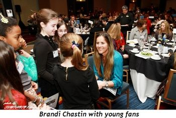 Brandi Chastin with young fans