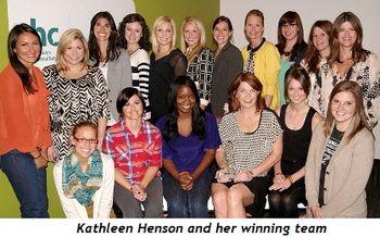 1 - Kathleen Henson and her winning team