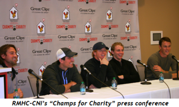 """6 - RMHC-CNI's """"Champs for Charity"""" press conference"""