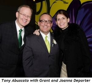 Grant Deporter, Tony Abuscato and Joanna Deporter