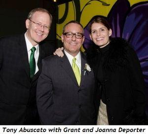 Grant Deporter, Tony Abuscato and Joanna Deporter
