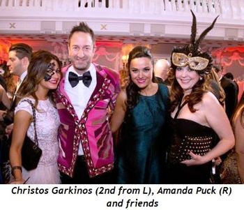 5 - Christos Garkinos (2nd from L), Amanda Puck (R) and friends