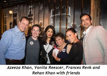 6 - Azeeza Khan, Vonita Reescer, Frances Renk, Rehan Khan with friends