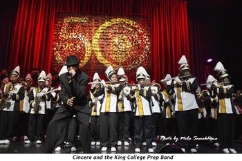 Cincere and the King College Prep Band