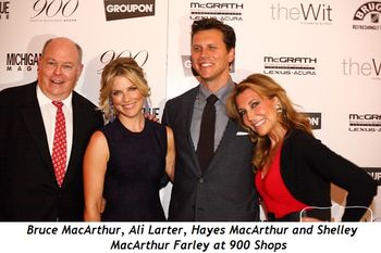 Blog 2 - Bruce MacArthur, Ali Larter, Hayes MacArthur and Shelley MacArthur Farley at 900 Shops